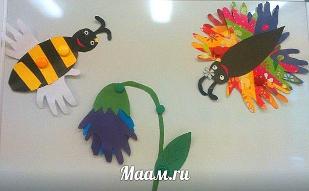 Аппликация ИЗ ЛАДОШЕК столь же популярна, как и рисование. Из блога педагога Елены Булановой....