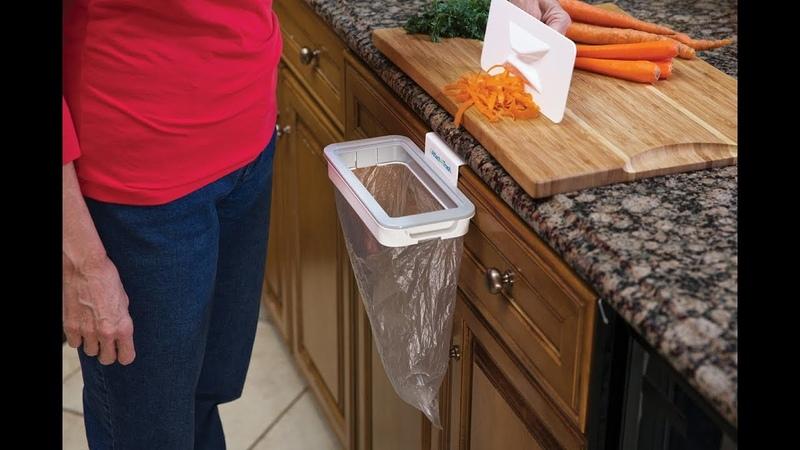 ✆ 082.7788333 - Giá treo rác thông minh Attach-A-Trash Hanging Trash Bag Holder