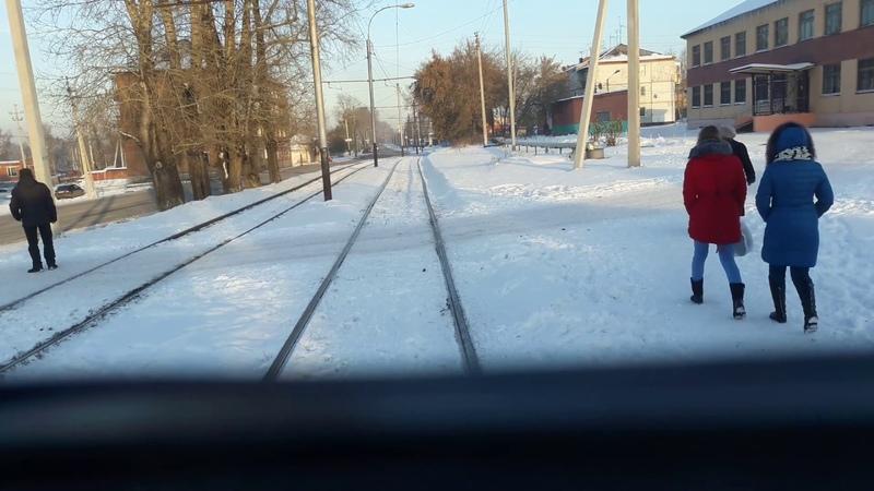 Поездка по закрытому участку трамвайного маршрута №5 г. Прокопьевска