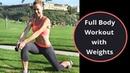Julie Bognar Full Body Workout with Weights Интервальная тренировка для похудения и от проблемных зон