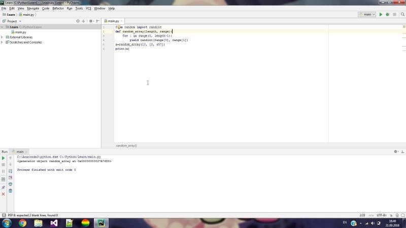 Python 3. Словари. NumPy. Yield
