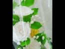 Свадебные фигурки на торт из сахарной мастики.  Лебеди с букетом белых роз.  Так же есть в наличии букеты белых роз для дополнит