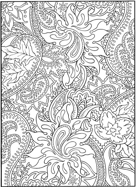 coloring sheets fractal pages az