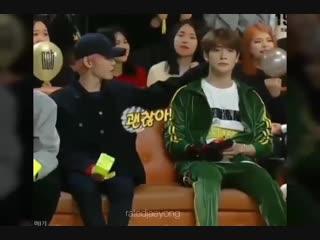 taeyong touching jaehyun's nape #nct #jaehyun #taeyong #jaeyong