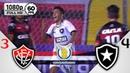 Vitória 3 x 4 Botafogo - Gols Melhores Momentos COMPLETO - Brasileirão Série A 2018