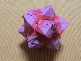 パラパラ折り紙・ローズユニット(12面体30枚組)