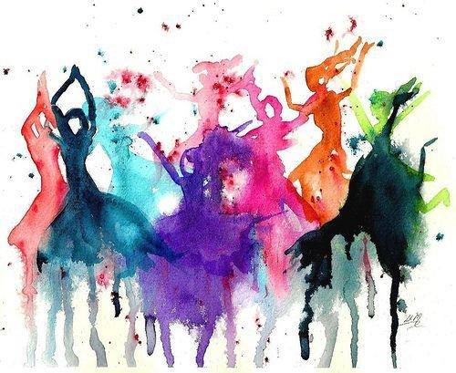 "Silhouette Dance Music Abstract Background: Интуитивное рисование """"Рисунки, меняющие вашу жизнь"