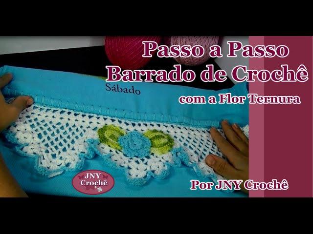 Passo a Passo Barrado de Crochê Frutinhas com Flor Ternura por JNY Crochê