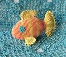 Удивленная морская рыбка.