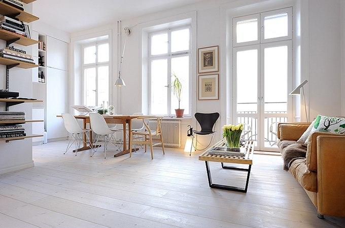 Скандинавский дизайн квартиры-студии 39 м в Стокгольме / Швеция - http://kvartirastudio.