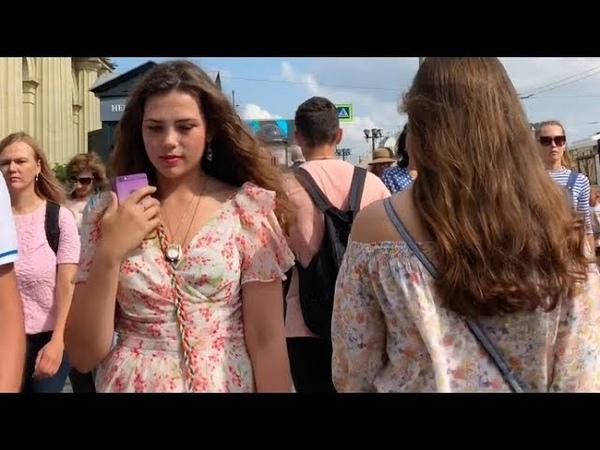 Как одеваются россиянки летом Street Fashion RUSSIA Петербург
