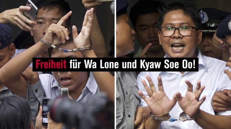 Freiheit für Wa Lone und Kyaw Soe Oo!