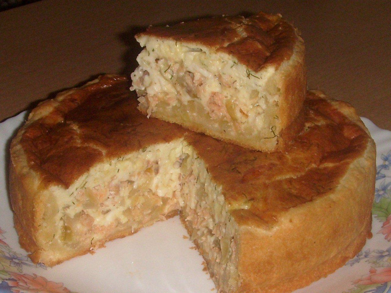 Сырно-луковый пирог с рыбой! Автор: Светлана Голубева Тесто: 80