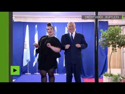 Benjamin Netanyahou fête la victoire d'Israël à l'Eurovision