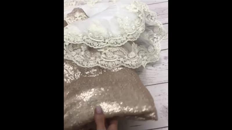 Конверт-одеяло, расшитый кордовыми кружевами в два ряда, ткань паетки😍