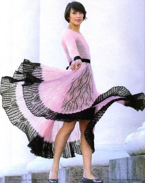 Платье спицами. (3 фото)