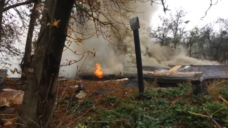 Пожар в центре Бреста на улице Халтурина