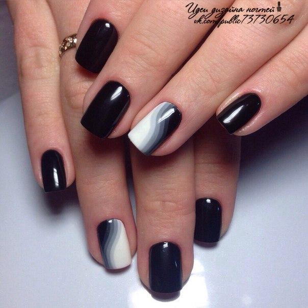 Дизайн классических ногтей фото