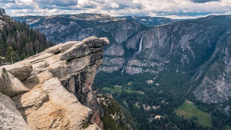 Картинка горы. Yosemite, California, горы, облака, пейзаж, природа, National Park, скалы, JPEG.