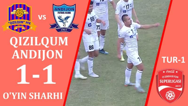 Qizilqum - Andijon - 1 1 ¦ O'yin sharhi ¦ Superliga 1-tur (08.03.2019)