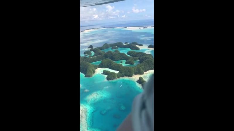 Облет островов в Тихом океане.