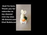 3D GELATIN ART A RABBIT IN CASTING MOLD