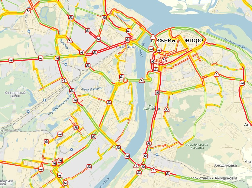 Пробки в Нижнем Новгороде | Новости Нижнего