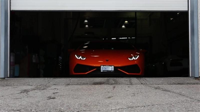 Delivery of an Arancio Borealis Lamborghini Huracan Coupe 610 4