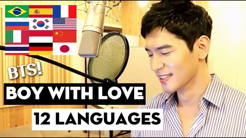 BTS - BOY WITH LUV Piano Acoustic Cover in 12 Languages (Multi-Language Version) - Travys Kim