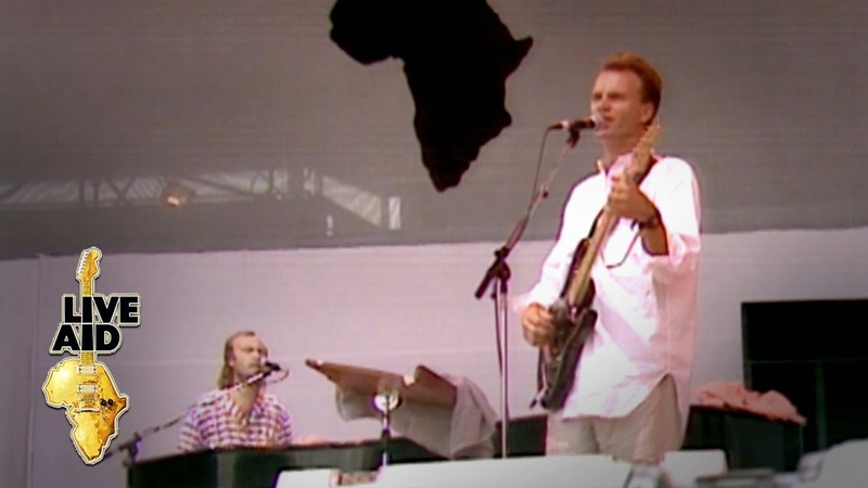 Sting Phil Collins - Every Breath You Take (Live Aid 1985)