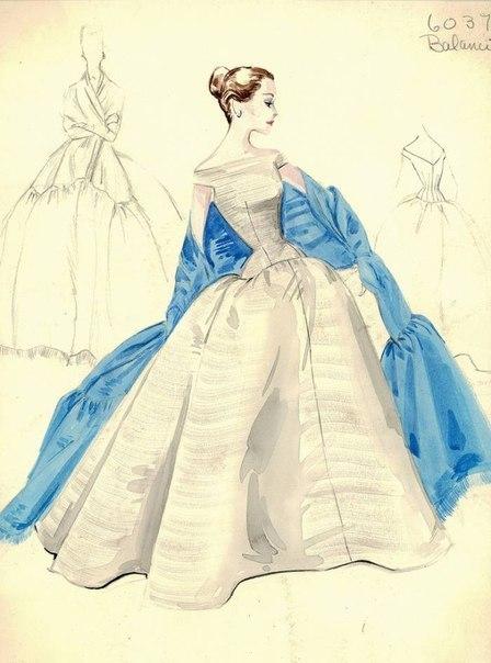 Рисунки вечернее платье