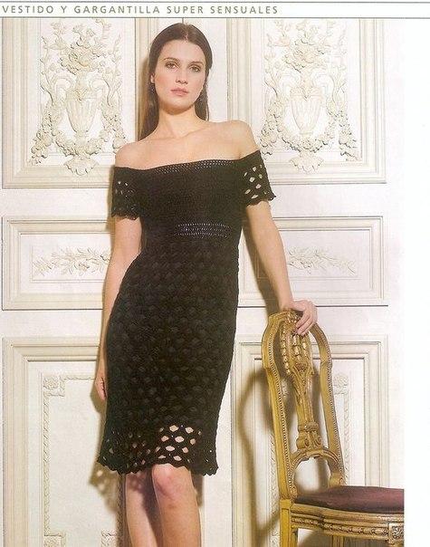 Черное платье (4 фото) - картинка