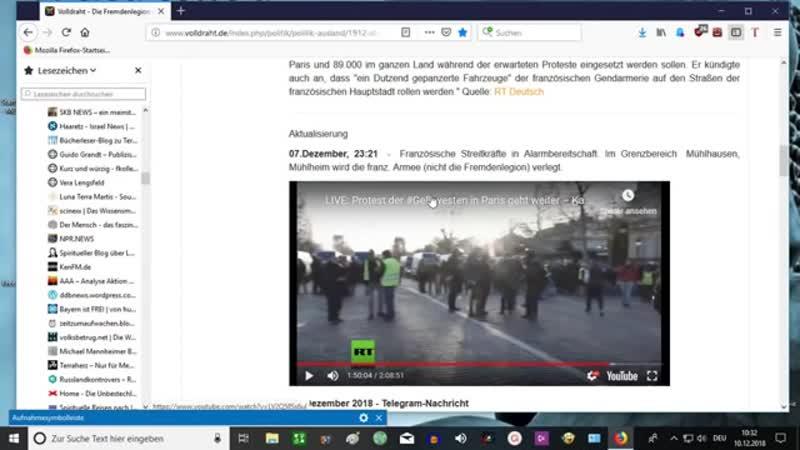 09-12-18 Die Fremdenlegion wird es nicht zulassen- das Macron die Waffen gegen das Volk richtet