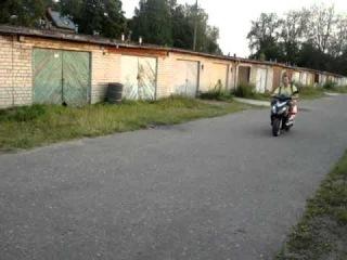 Keeway Scooter test.Sahaja-Yoga MOSCOW - Raimonds.