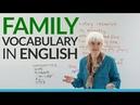 Learn Basic English Vocabulary: FAMILY