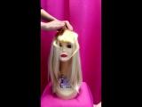 Накладная челка из натуральных волос Цвет 613 Яркий блонд на заколках-клипсах подстриженная/ Домик Принцессы
