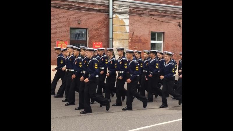 Дружно в ногу мы идём за новыми знаниями. 3 Рота Кадетского Кронштадского морского корпуса.