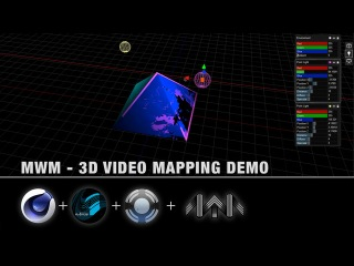 MWM and Resolume - 3D Video Mapping Demo