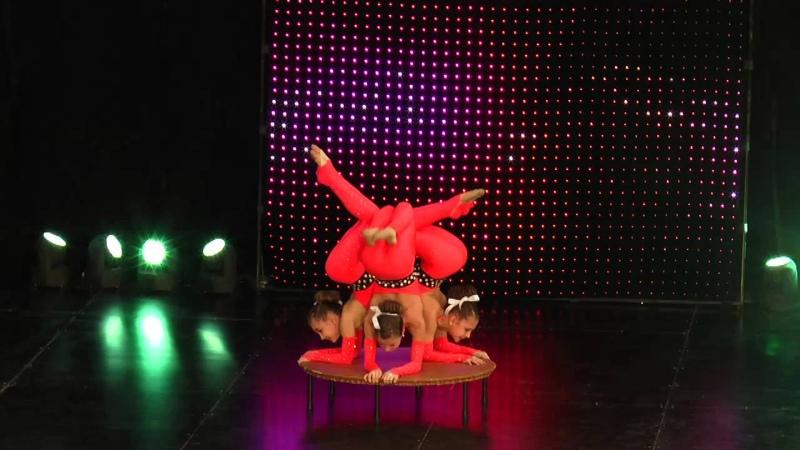 Образцовый мини цирк Фантазия Краснодар Трио Фантазия Абрукина Виталина, Ефименко Юлиана, Лебедева А