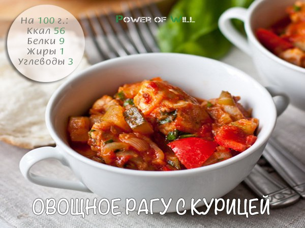 Овощное рагу с курицей рецепт в мультиварке редмонд