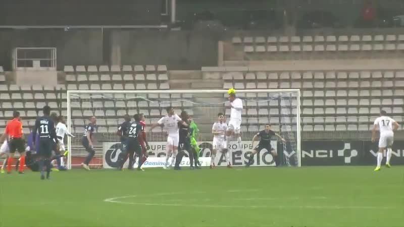 Légalisation de M. Fontaine à la 904' dans le derby face au Paris FC (21/12/2018)