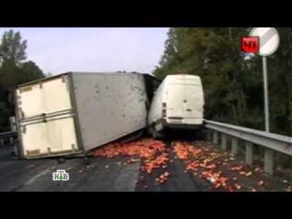 В Башкирии микроавтобус Mercedes и два грузовика устроили кровавое ДТП и пожар