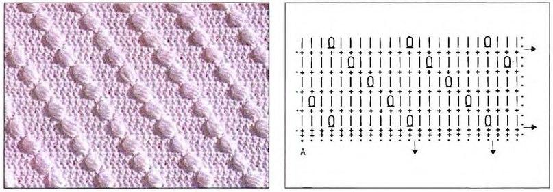 Вязание крючком объёмные узоры схемы 91