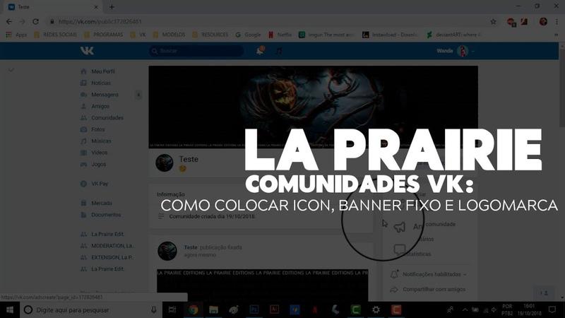 COMUNIDADES VK COMO COLOCAR ICON LOGO E BANNER FIXO