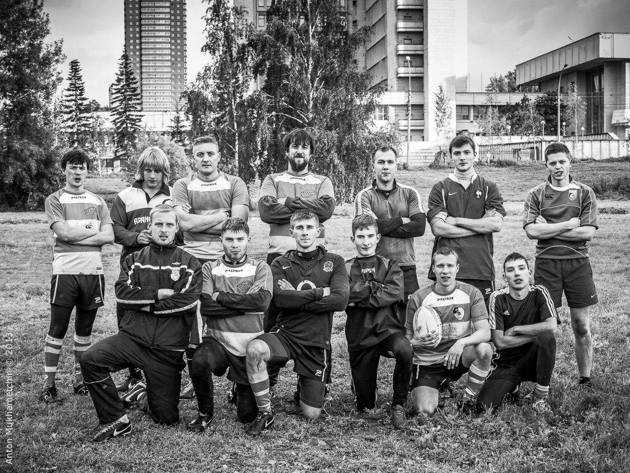 2013/09/15 Новосибирск. Участники регбийного матча в честь 90-летия регби в России.