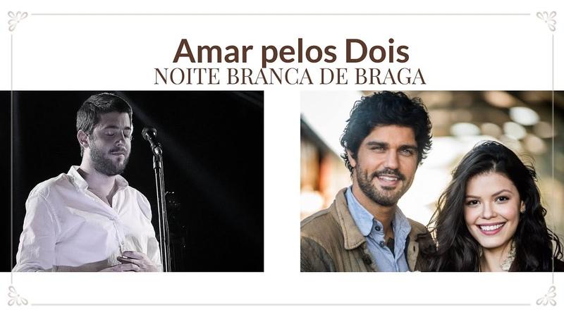 Salvador Sobral na Noite Branca de Braga Cantando a Trilha da Novela Tempo de Amar