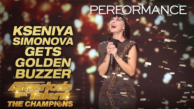 Kseniya Simonova Sand Artist Gets Terry Crews' GOLDEN BUZZER America's Got Talent The Champions