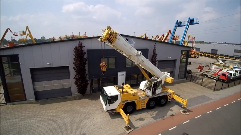 Кран Либхер Liebherr LTM 1055 грузоподъемностью до 55 тонн в работе