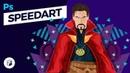 Doctor Strange Illustration Photoshop SpeedArt