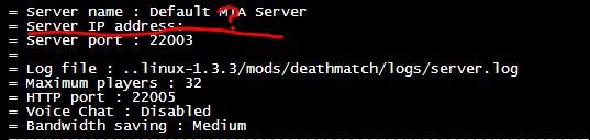 установка ip для сервера mta